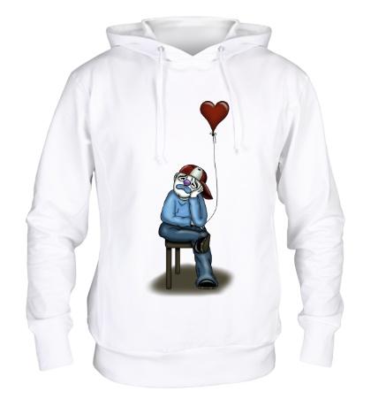 Толстовка с капюшоном Влюблённый клоун