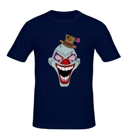 Мужская футболка Сумасшедший клоун