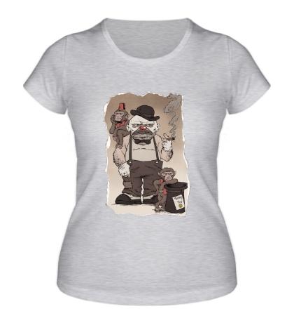 Женская футболка Сварливый Клоун