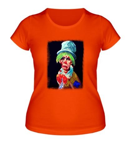 Женская футболка Зомби клоун