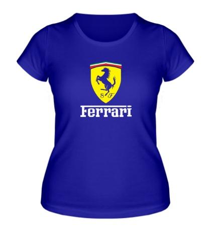 Женская футболка Ferrari Shield
