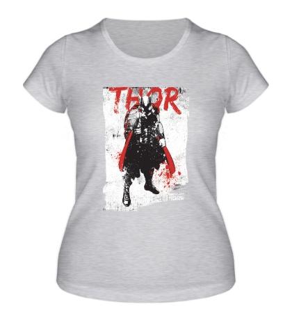 Женская футболка Thor In Grunge