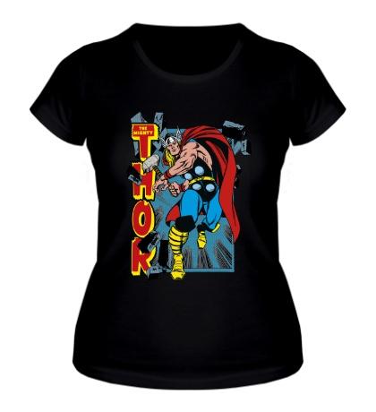 Женская футболка Могучий Тор