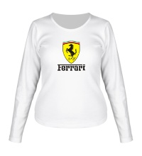 Женский лонгслив Ferrari Shield