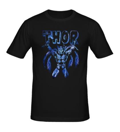 Мужская футболка Электрический Thor