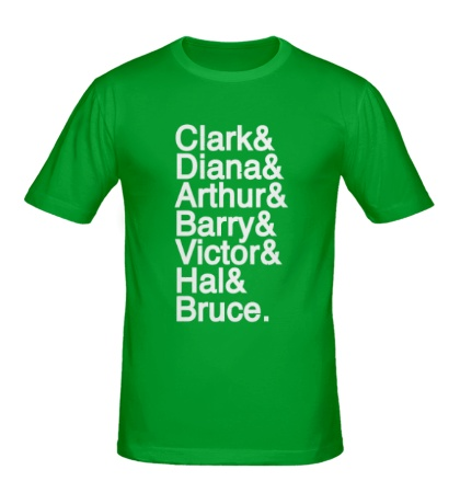 Мужская футболка Имена героев