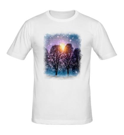 Мужская футболка Звуки зимы