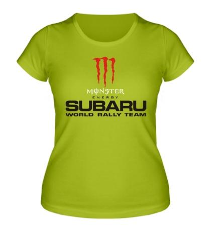 Женская футболка Subaru Rally Team