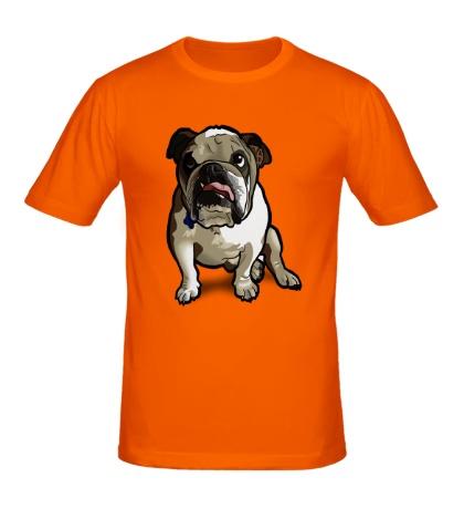 Мужская футболка Задумчивый бульдог