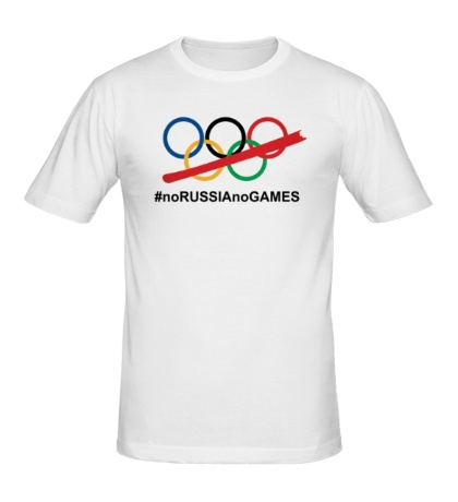 Мужская футболка NoRUSSIAnoGAMES