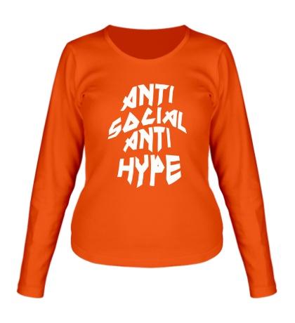 Женский лонгслив Anti Social Anti Hype