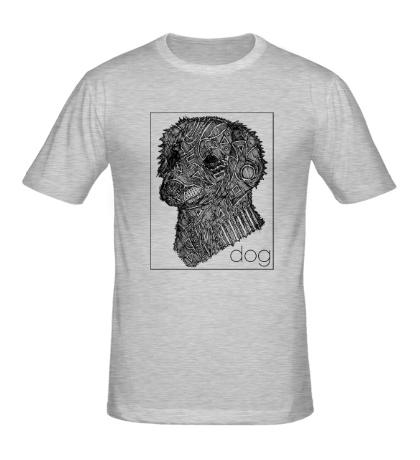 Мужская футболка Dog Portrait