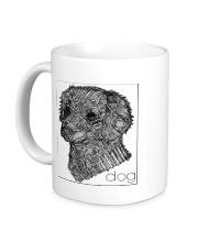 Керамическая кружка Dog Portrait