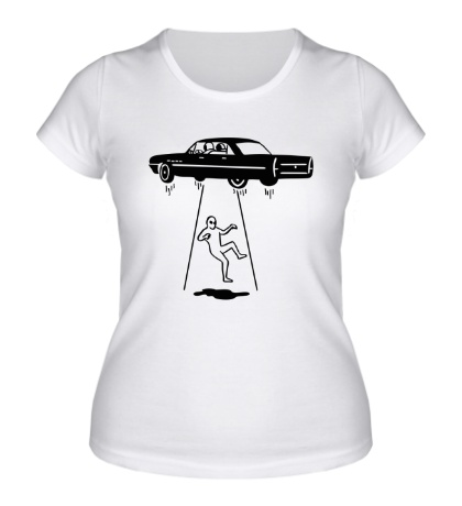 Женская футболка Похищение НЛО