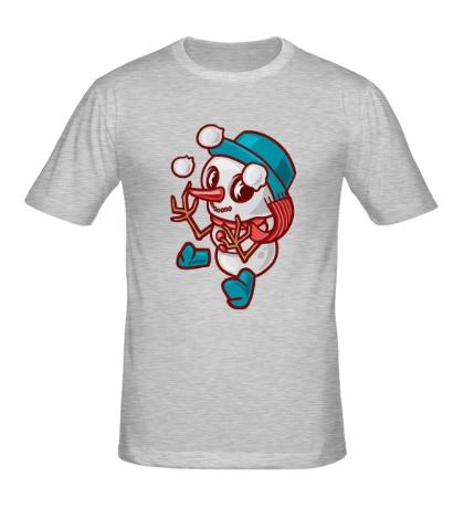 Мужская футболка Маленький снеговик