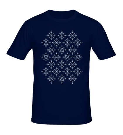 Мужская футболка Узор из снежинок