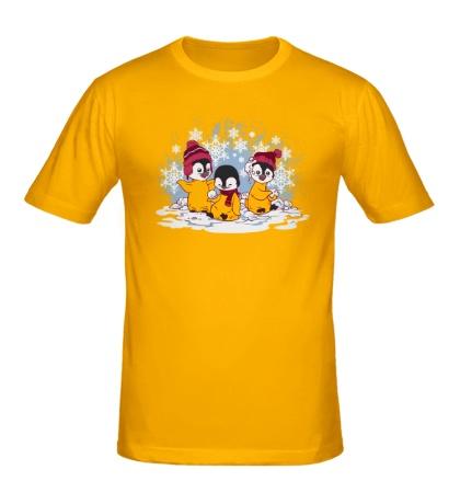 Мужская футболка Снежные пингвины