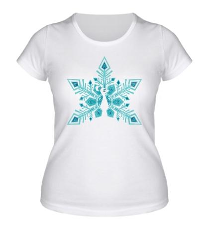 Женская футболка Снежная птица