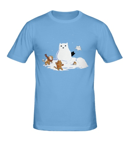 Мужская футболка Снежные коты