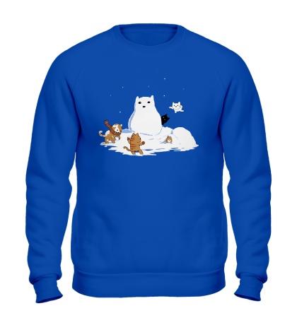 Свитшот Снежные коты