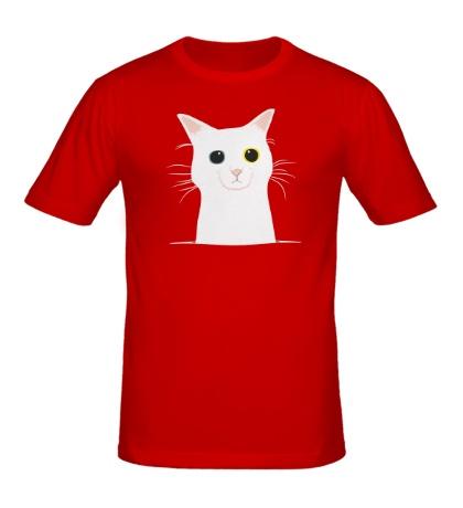 Мужская футболка Грустный котейка