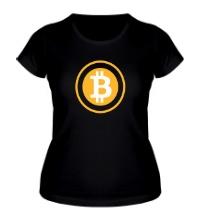 Женская футболка Биткоин