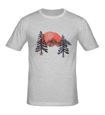 Мужская футболка Зимний закат