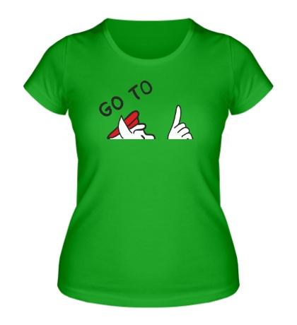 Женская футболка Go to hell