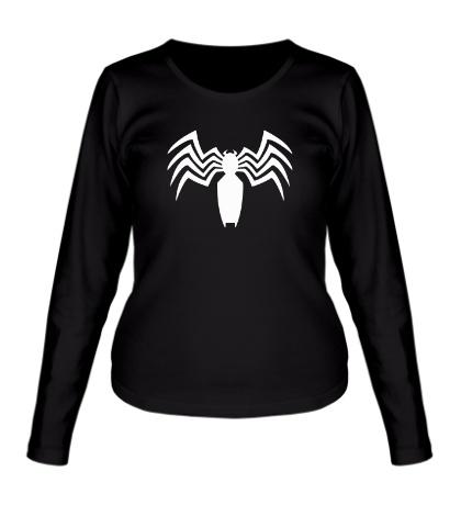 Женский лонгслив Venom logo