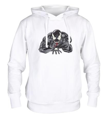Толстовка с капюшоном Venom art