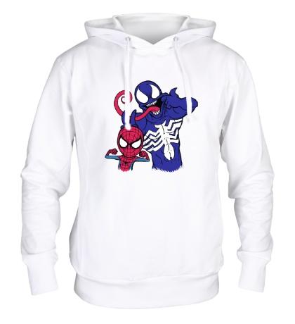 Толстовка с капюшоном Venom and Spider-man