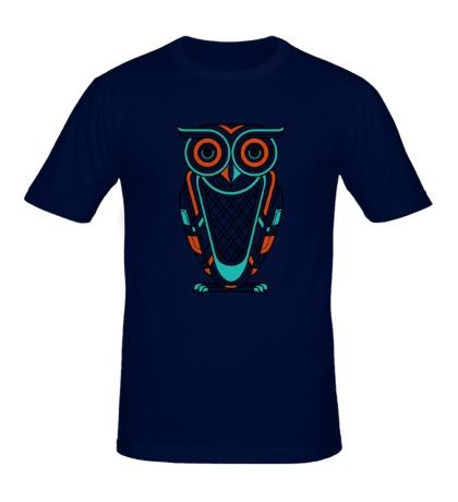 Мужская футболка Art Deco Owl Diurnal
