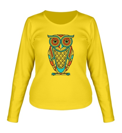 Женский лонгслив Art Deco Owl Diurnal