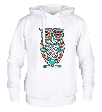 Толстовка с капюшоном Art Deco Owl Diurnal