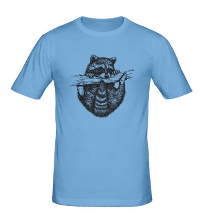 Мужская футболка Енот повисун