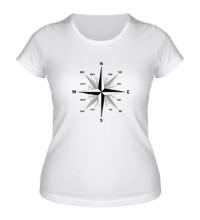 Женская футболка Роза ветров