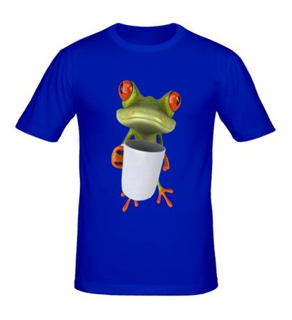 Мужская футболка Лягушенок чаелюб