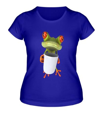 Женская футболка Лягушенок чаелюб