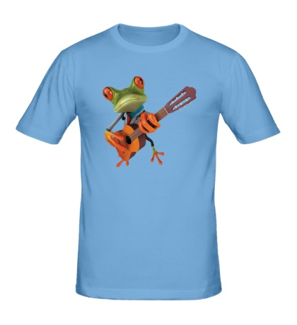 Мужская футболка Лягушенок музыкант