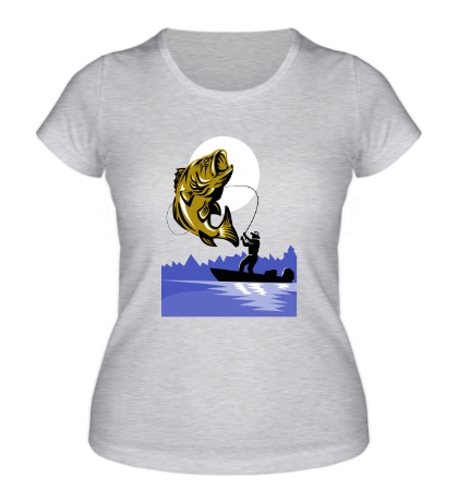 Женская футболка Рыбак и рыба