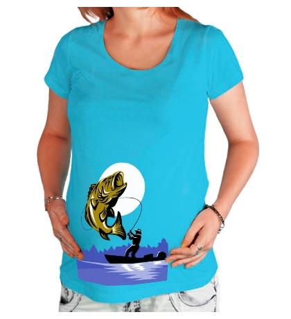 Футболка для беременной Рыбак и рыба