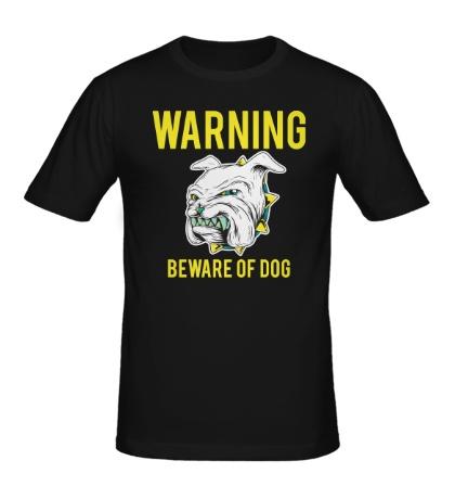 Мужская футболка Осторожно сабака