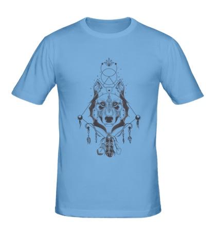 Мужская футболка Волк шаман