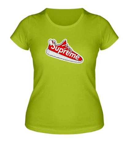 Женская футболка Supreme sneakers