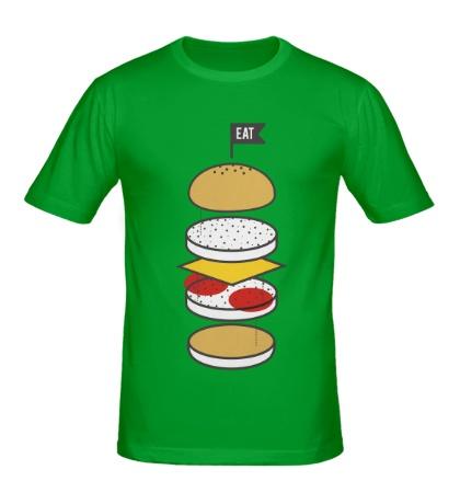 Мужская футболка Разбор бургера