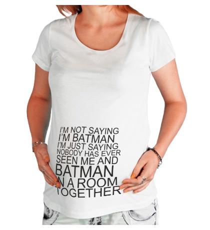 Футболка для беременной Im batman