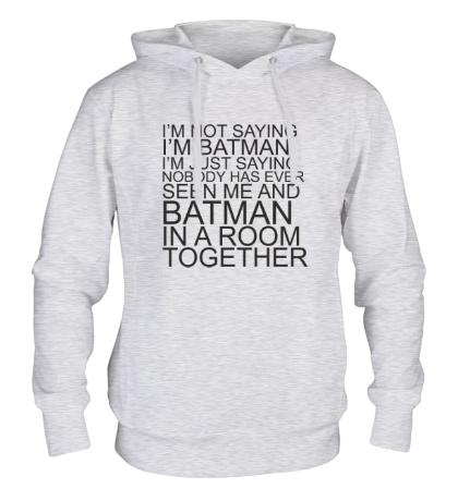 Толстовка с капюшоном Im batman