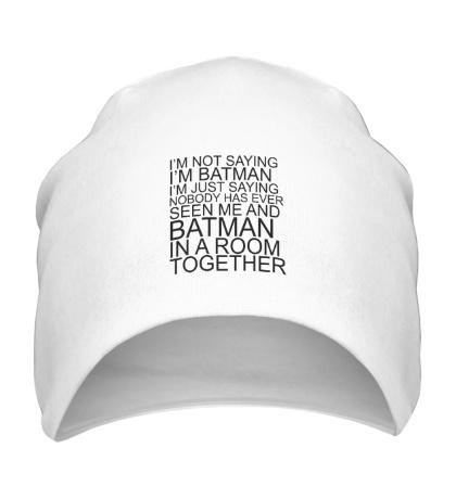 Шапка Im batman