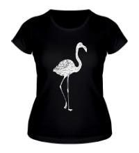 Женская футболка Фламинго