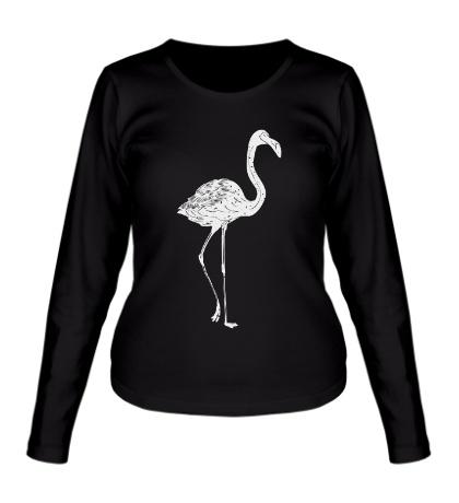 Женский лонгслив Фламинго